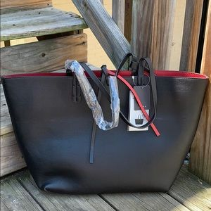 NWT Zara basic black/red  reversible tote